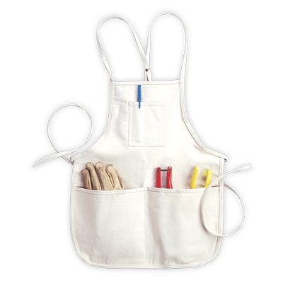 4 Pocket Loop Neck Bib Apron