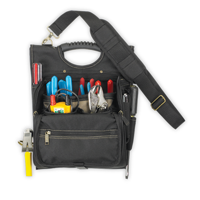 21 Pocket Zippered Professional Electrician's Tool Pouch