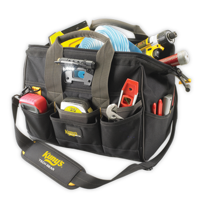 "Tech Gear™ LED Lighted 14"" BigMouth® Tool Bag"