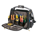 "Tech Gear™ LED Lighted Handle 18"" Dual Compartment Tool Carrier"