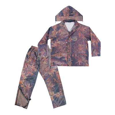2 Pc. Camo Rain Suit, 0.18mm