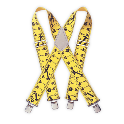 Ruler Heavy Duty Elastic Suspenders