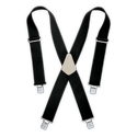 Black Heavy Duty Elastic Suspenders