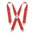 Red Heavy Duty Elastic Suspenders